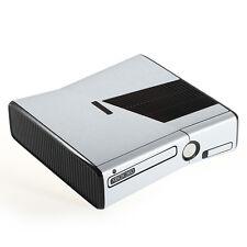In alluminio spazzolato EFFETTO METAL XBOX 360 SLIM Decalcomania Adesivo SKIN COVER Wrap