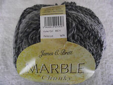 JAMES C BRETT 400g (2 x 200g) MARBLE CHUNKY WOOL - Choice of Colours