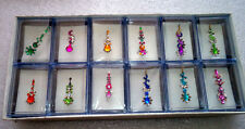 12 Pcs Brand new Crystal Bindi sticker tatto bellydance + free bindi gum