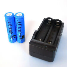2 PCS18650 Rechargeable Battery Blue 5000mah 3.7 V+1x  Battery Charger US STOCK