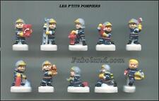 Feves LES P'TITS POMPIERS  -  10 Sujets  Porcelaine 3 cm. Environ