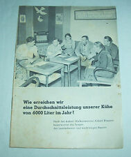 DDR Heft Milch Leistung Bauer Landwirtschaft 6000 Liter / pro Tag 1952 Fachheft