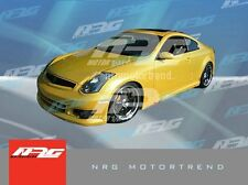 for G35 Coupe 03-07 F style Poly Fiber full body kit bumper kit front side rear
