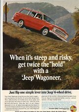 Original 1967 Jeep Wagoneer Magazine Ad - When It's Steep and Risky...