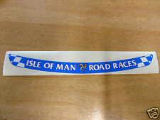 Isle of Man Road Races - TT Visor Decal Sticker - BLUE