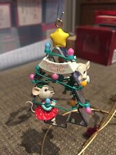 ENESCO CHRISTMAS ORNAMENT: TREE FOR TWO!  Cookie Cutter Mice new in box