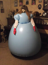 heavy pvc blue  ball gown sealed inflatable dress