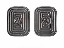 VW BUG BUS GHIA TYPE 3 PEDAL PAD COVERS WITH VW LOGO! (QTY 2) 311721173A