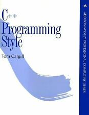 C++ Programming Style (Addison-Wesley Professional Computing Series)