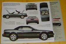 1993 Cadillac Allante Convertible V8 279 ci 290 hp SMFI IMP Info/Spec/photo 11x8