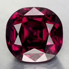 8.24CTS GORGEOUS CUSHION CUT NATURAL RHODOLITE GARNET VIDEO IN DESCRIPTION