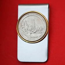US 2010 California Yosemite National Park Quarter BU Coin Two Toned Money Clip