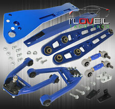 96-00 CIVIC BLUE F/R CAMBER KIT + ALUMINUM LCA ARM + SUBFRAME BRACE + TIE BAR