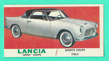 """1961 TOPPS SPORTS CARS # 59, LANCIA """"APPIA"""" COUPE"""