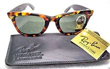 RAY-BAN *NOS VINTAGE B&L WAYFARER LIMITED W1212 MOSAIC & GOLD TEMPLES SUNGLASSES