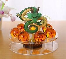 New Comic Dragonball Z Shenron+7pcs Star Crystal Ball+Display Stand Toy Figure