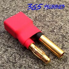 Female Deans to Male 4.0mm Bullet or HXT Connector Adapter Lipo 4mm 4.0 mm 4