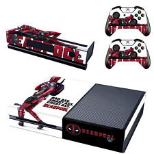 Xbox ONE Skin Sticker Deadpool Vinyl Decal Console & 2 Controllers Brand NEW