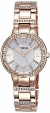 Fossil Women's ES3284 'Virginia' Crystal Rose-Tone Stainless steel Watch