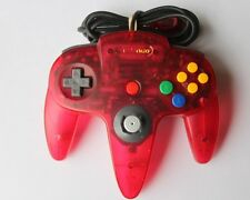 OEM Nintendo 64 N64 Brand Clear Funtastic WATERMELON RED Super Controller Pink