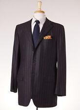 NWT $9450 KITON NAPOLI 100% Cashmere Suit 44 R Charcoal Gray-Raspberry Stripe