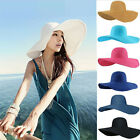 Summer Hat Women Hat Foldable Wide Large Brim Floppy Beach Hat Sun Straw Hat Cap