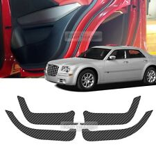 Carbon Door Decal Sticker Cover Kick Protector For CHRYSLER 2005-2009 2010 300C