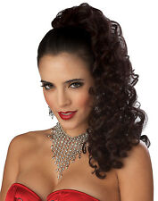 Adult Long Curly Black Glamorous Pin Up Costume Wig