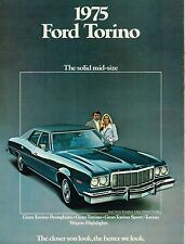 1975 Ford TORINO Brochure : GRAN,SPORT,BROUGHAM,Squire Station Wagon,460,Grand