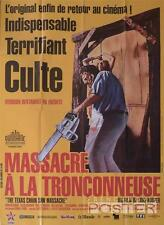 THE TEXAS CHAINSAW MASSACRE - HOOPER - RARE LARGE FRENCH REISSUE MOVIE POSTER