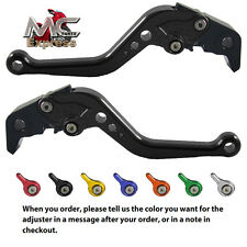 Kawasaki ZRX1100 1200 99-07 Short Adjustable Brake & Clutch CNC Levers Black