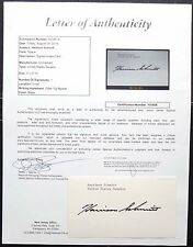 Apollo 17 Crew Harrison Schmitt Signed Card JSA Authenticated 11th Moonwalker