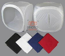 "90cm / 35"" Photography Light Tent + 4 Backdrops - Box Cube Photo Studio Softbox"