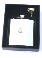 Royal Navy Anchor & Crown 6oz Hip Flask Personalised Gift FREE ENGRAVING BGK1