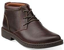 NEW CLARKS BOWN LEATHER ANKLE 8 1/2 CHUKKA BOOTS 8.5 STRATTON LIMIT 261 025