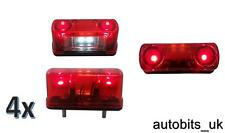4 x 4 LED Posteriore Tail license number plate light LAMPADA 24V CAMION Camion rimorchio NUOVO
