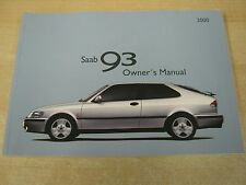 SAAB 93 9-3 SALOON CAB ESTATE   HANDBOOK OWNERS MANUAL  1997-2002