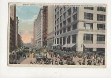 State Street From Madison Street Chicago USA Vintage Postcard 937a