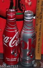 2016 SHARE A COKE & A SONG  ALUMINUM 8.5 OUNCE DIET COKE & COCA - COLA BOTTLES
