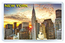 NEW YORK SUNSET MOD2 FRIDGE MAGNET SOUVENIR IMAN NEVERA