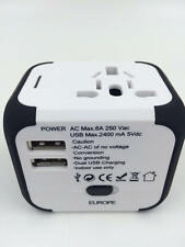 Universal Worldwide ALL IN 1 Travel Plug Converter Charger Adapter w/ 2 USB Port