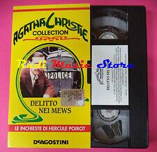 VHS film DELITTO NEI MEWS Agatha Christie collection DEAGOSTINI (F88) no dvd