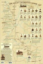 The Great Locomotive Chase Civil War Historical Map