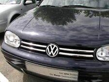 VW GOLF 4 IV GRILLLAMELLEN GRILLLEISTEN EDELSTAHL POLIERT  CHROM