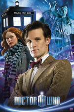 DOCTOR WHO: 11th Doctor & Amy Pond w/TARDIS  24x36 BBC TV Show Poster (5380)