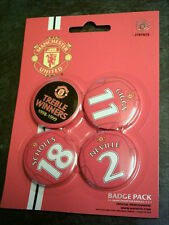 Manchester United Football Club - Pack of 4 x 38mm Button Badges