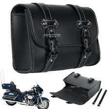 Motorcycle Saddle Luggage Barrel Bag Fit Harley Dyna Touring Softail Sportster