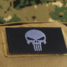 PUNISHER FLAG Badge TACTICAL MILITARY US ARMY MORALE DESERT VELCRO PATCH