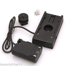 LPE6 Dummy Battery F-970 Power Supply Plate Mount For Canon 5D2 5D3 7D 6D 60D W6