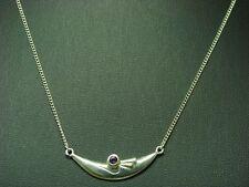 925 Sterling Argento Collier con guarnizione in vetro/in puro argento/3,9g/42 cm